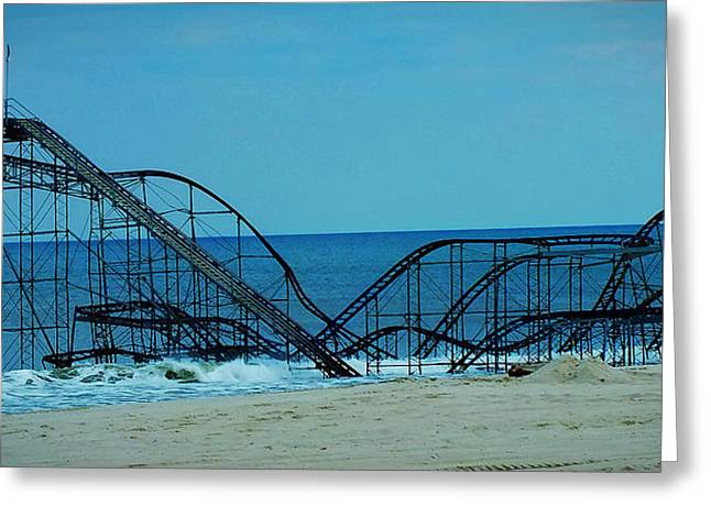 Sandy's Rollercoaster Greeting Card by William Walker