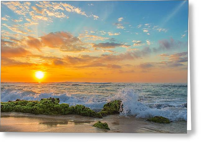 Sandy Beach Sunrise 3 Greeting Card