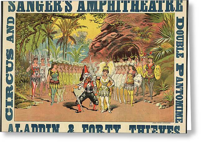 Sanger's Amphitheatre Greeting Card by British Library
