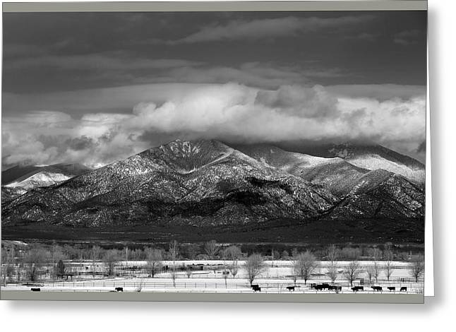 Sangre De Cristo Mountains From Blueberry Ridge Taos New Mexico Greeting Card by Mark Goebel
