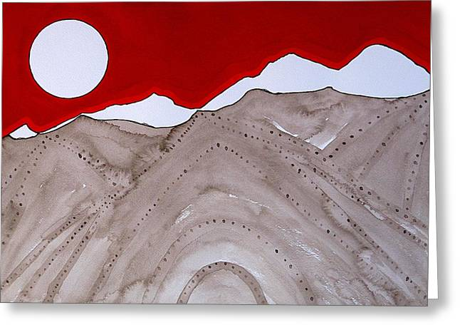 Sangre De Cristo Peaks Original Painting Greeting Card
