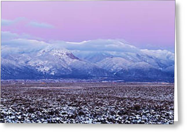 Sangre De Cristo Range After Sunset Greeting Card by Panoramic Images