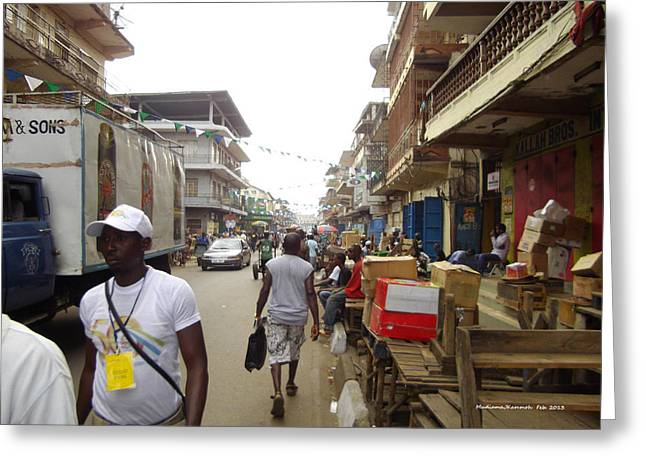Sani Abacha Street- Year 2011 Greeting Card