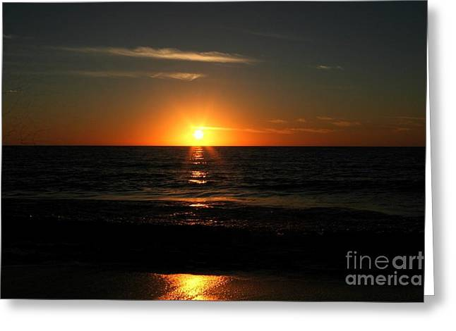 Sanibel At Sunset Greeting Card