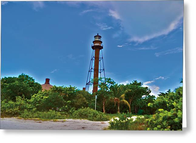 Greeting Card featuring the photograph Sanibel Island Lighthouse by Timothy Lowry