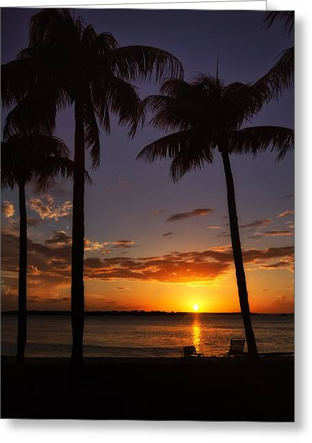 Sanibel Island Sunset Greeting Card