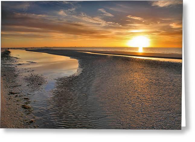 Sanibel Sunrise Xxi Greeting Card by Steven Ainsworth