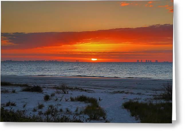 Sanibel Sunrise Xxiii Greeting Card by Steven Ainsworth