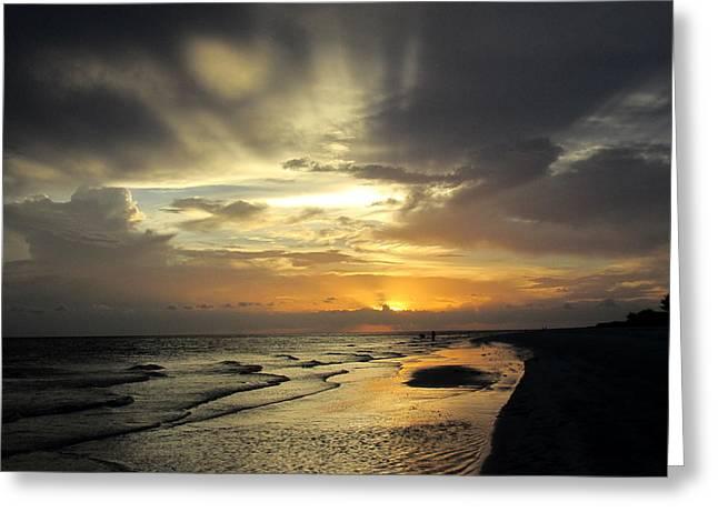 Sanibel Sunset Greeting Card by Rosie Brown