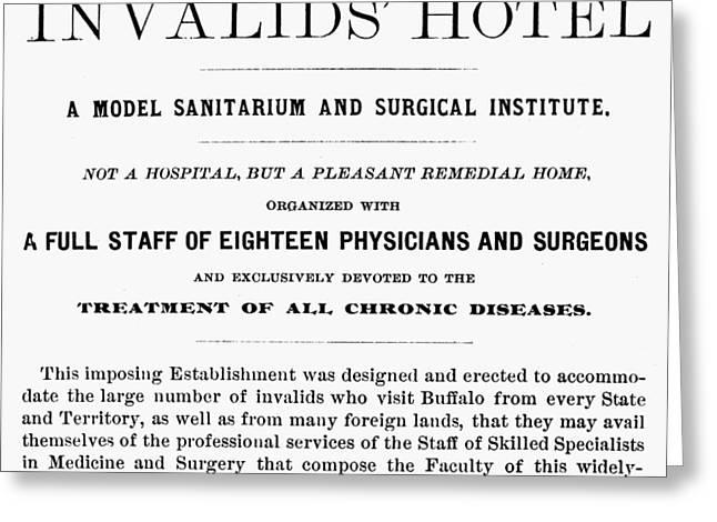 Sanitarium Ad, 19th Century Greeting Card by Granger