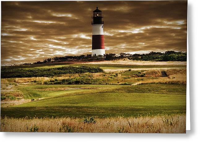 Sankaty Head Lighthouse In Nantucket Greeting Card by Mitchell R Grosky