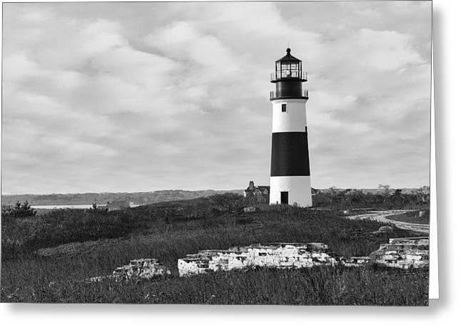 Sankaty Head Lighthouse Nantucket Cape Cod Greeting Card