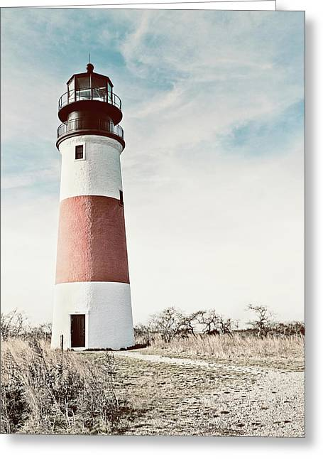 Sankaty Head Lighthouse Nantucket  Greeting Card by Marianne Campolongo