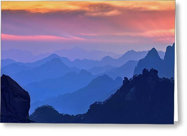 Sanqing Mountain Sunset Greeting Card