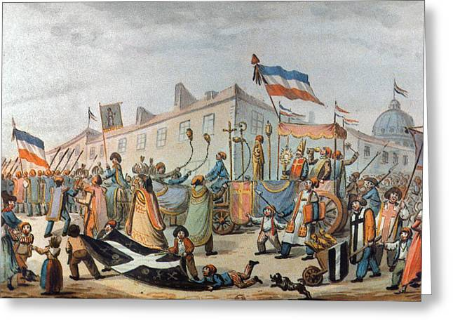 Sans-culottes Parade, 1793 Greeting Card by Granger