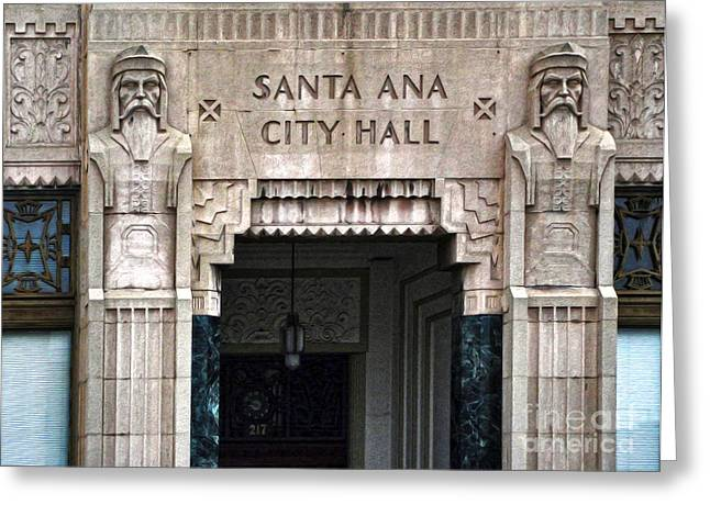 Santa Ana City Hall - 01 Greeting Card by Gregory Dyer