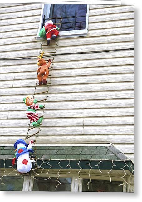 Santa And His Helpers I Greeting Card