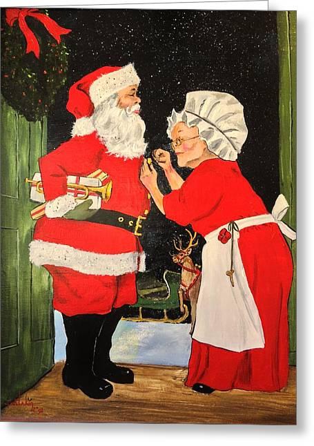 Santa And Mrs Greeting Card