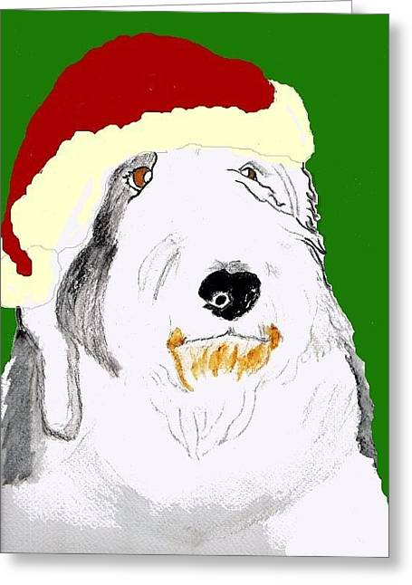 Santa Bailey Greeting Card