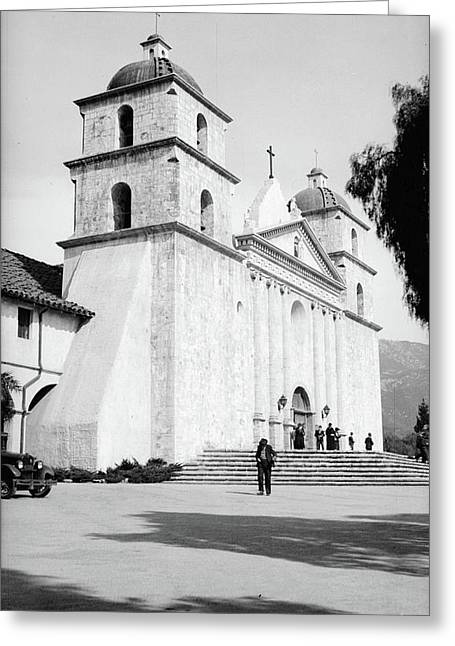 Greeting Card featuring the painting Santa Barbara, 1936 by Granger