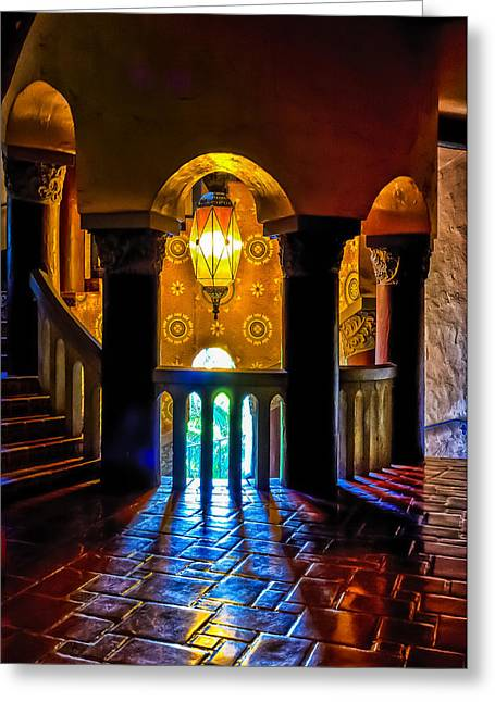 Santa Barbara Courthouse Glow Greeting Card