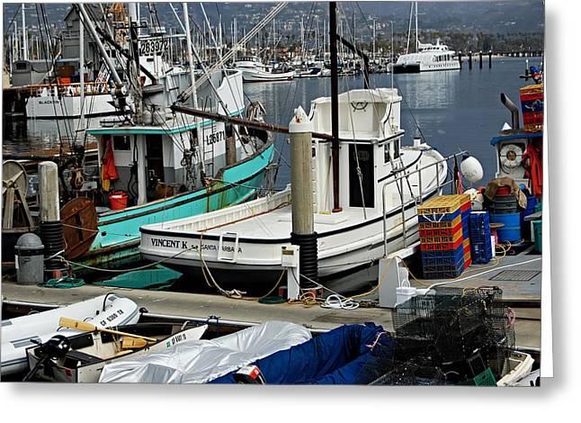Santa Barbara Fishing Boats Greeting Card