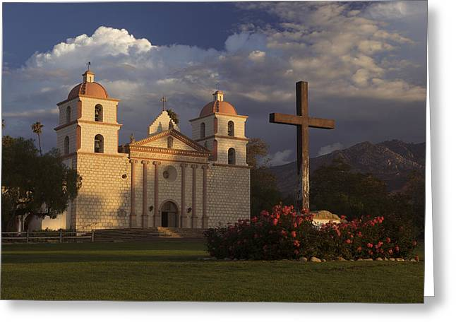 Greeting Card featuring the photograph Santa Barbara Mission Mg_6324 by David Orias