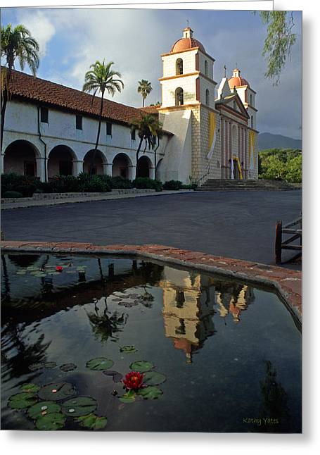 Santa Barbara Mission Reflections Greeting Card