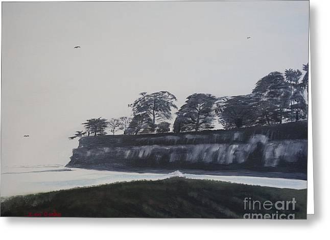 Greeting Card featuring the painting Santa Barbara Shoreline Park by Ian Donley