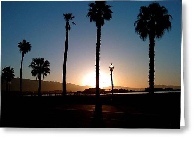 Santa Barbara Sunrise Greeting Card by Colleen Renshaw