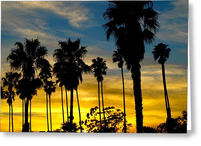 Santa Barbara Sunset Greeting Card