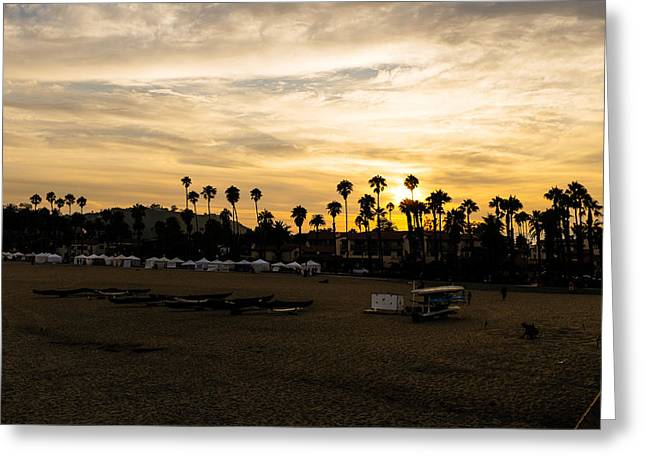 Santa Barbara Sunset Greeting Card