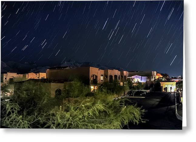 Greeting Card featuring the photograph Santa Catalina Mountain Startrails by Dan McManus