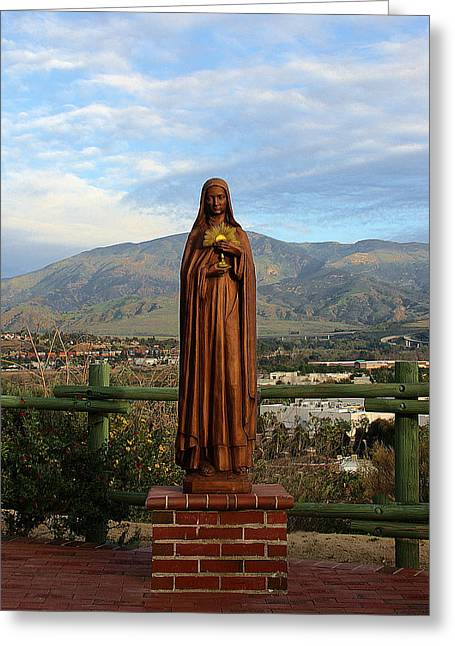 Santa Clara De Asis Greeting Card