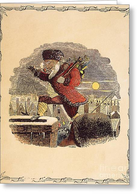 Santa Claus, 1848 Greeting Card by Granger
