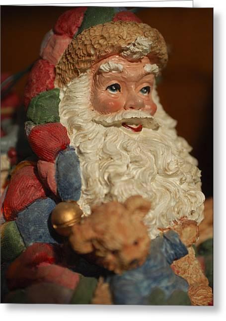 Santa Claus - Antique Ornament - 09 Greeting Card by Jill Reger