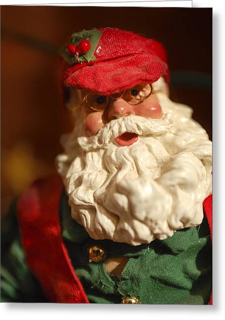 Santa Claus - Antique Ornament - 16 Greeting Card by Jill Reger