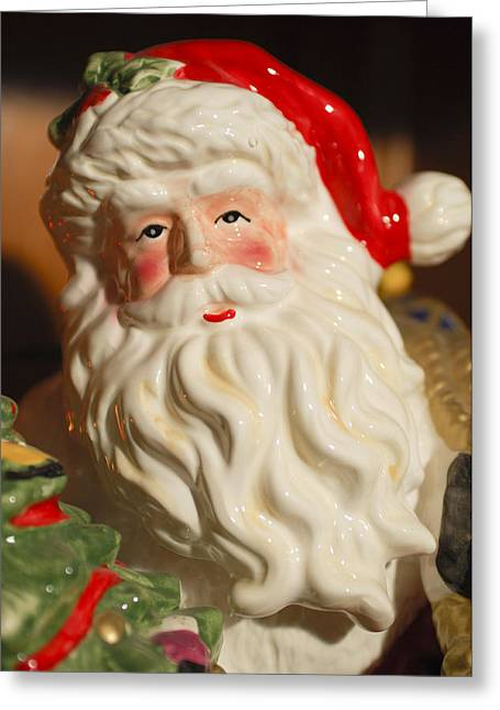 Santa Claus - Antique Ornament - 19 Greeting Card by Jill Reger