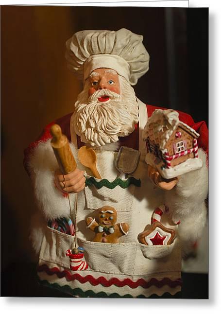 Santa Claus - Antique Ornament - 22 Greeting Card by Jill Reger