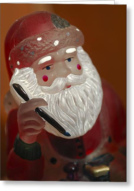 Santa Claus - Antique Ornament - 24 Greeting Card by Jill Reger