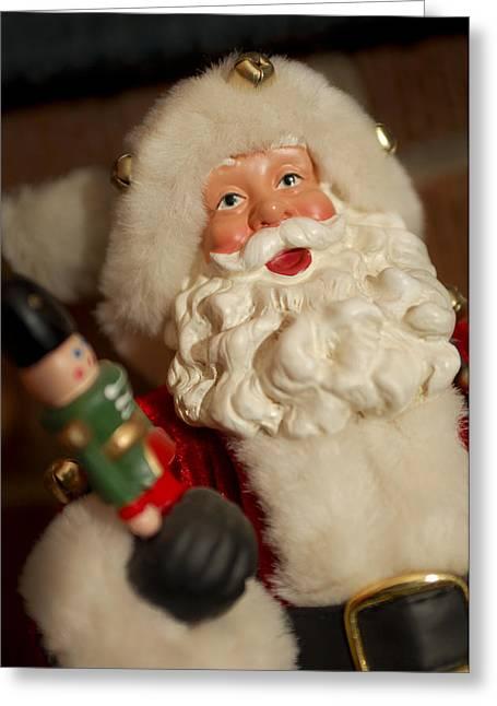 Santa Claus - Antique Ornament - 25 Greeting Card by Jill Reger