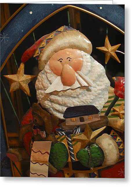 Santa Claus - Antique Ornament - 27 Greeting Card by Jill Reger