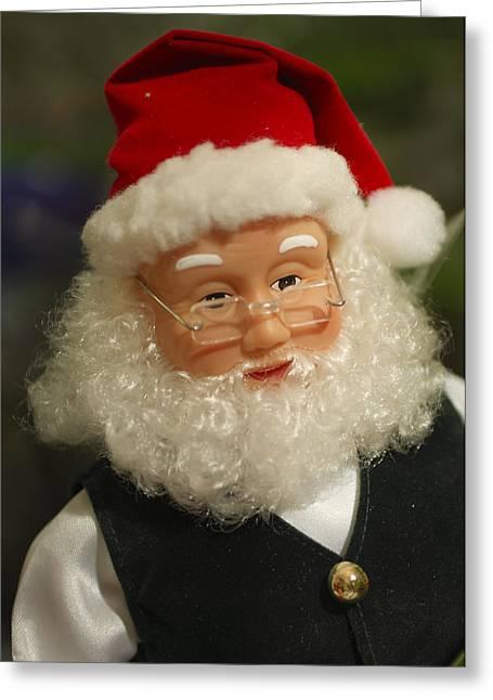 Santa Claus - Antique Ornament - 30 Greeting Card by Jill Reger