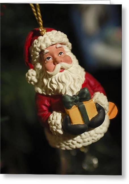 Santa Claus - Antique Ornament - 31 Greeting Card by Jill Reger