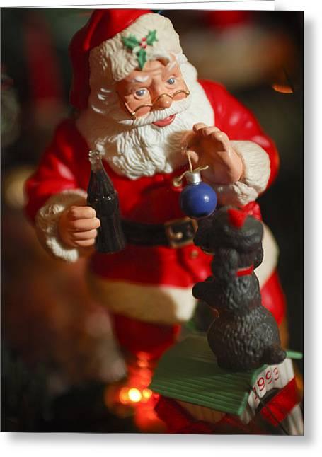 Santa Claus - Antique Ornament - 33 Greeting Card by Jill Reger