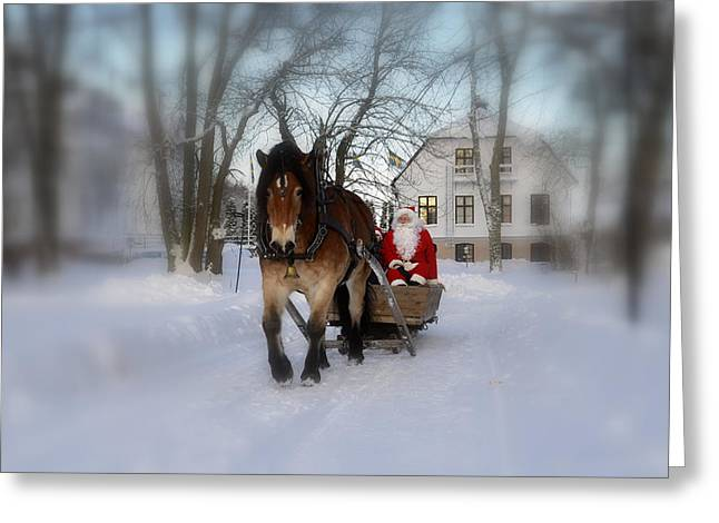 Santa Claus Greeting Card by Conny Sjostrom