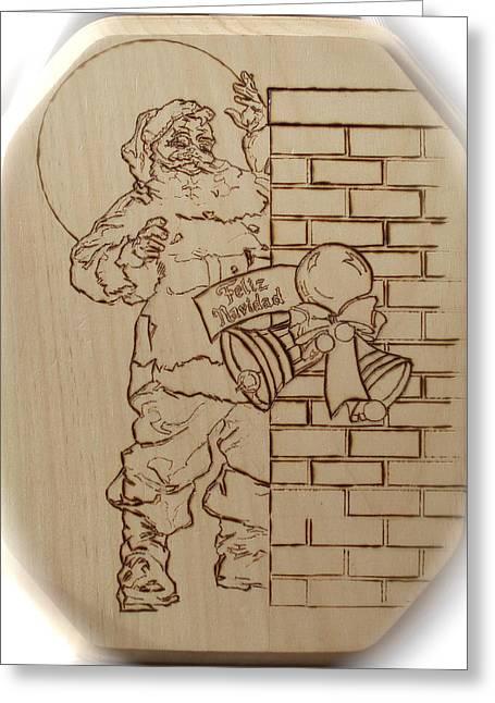 Santa Claus - Feliz Navidad Greeting Card by Sean Connolly