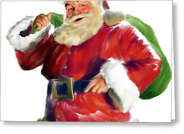 Santa Claus Greeting Card by Mark Spears
