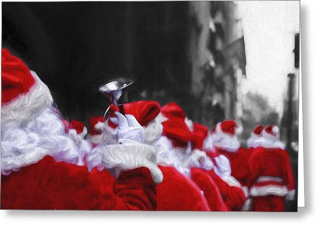 Santa Clones Greeting Card
