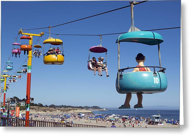 Santa Cruz Beach Amusement Park  Greeting Card